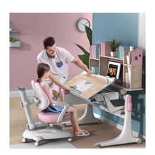 Low Ergonomic Study Table And Chair, Kids Furniture Students Study Table Desk/