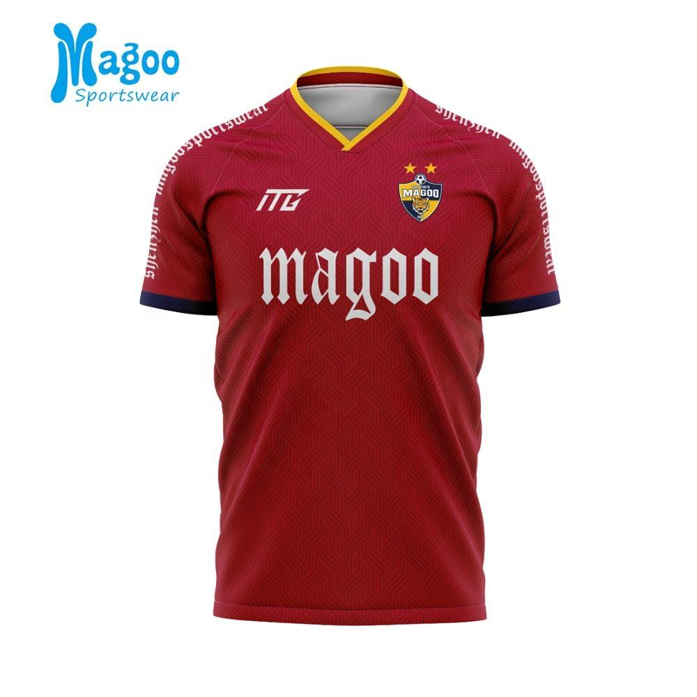 Meilleur de football de qualité thaïlandaise maillot de foot maillot slim fit club de football