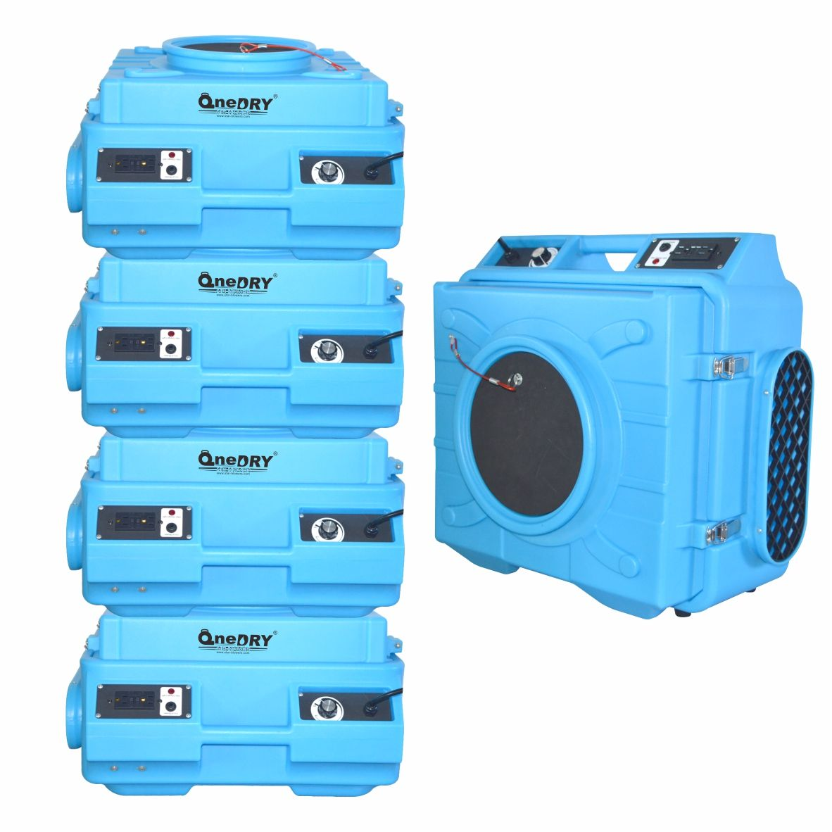 industrial commercial green water damage restoration hvac premium portable air scrubber air filter dryer basement air purifier