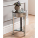 Round Venetian Mirrored Side Table Glass Furniture Bedside Small Mirrored Table