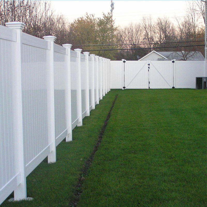 6ft H.x8ft W.White Plastic used Vinyl Pvc privacy fence for sale