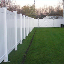 6ft H.x8ft W.White Plastic used Vinyl Pvc privacy fence