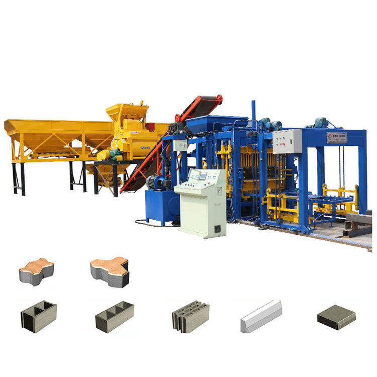 QT5-15 fully automatic block making machine hollow block machine brick block moulding machine