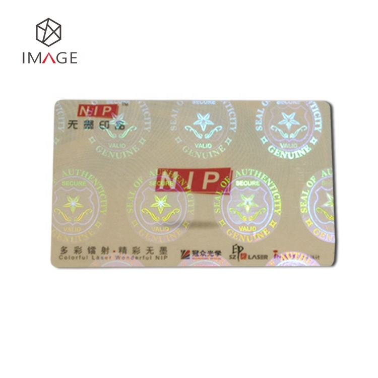 CR80 Size Security ID Card Transparent Hologram Stickers