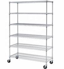 6 tiers chrome wire shelving metal garage rack