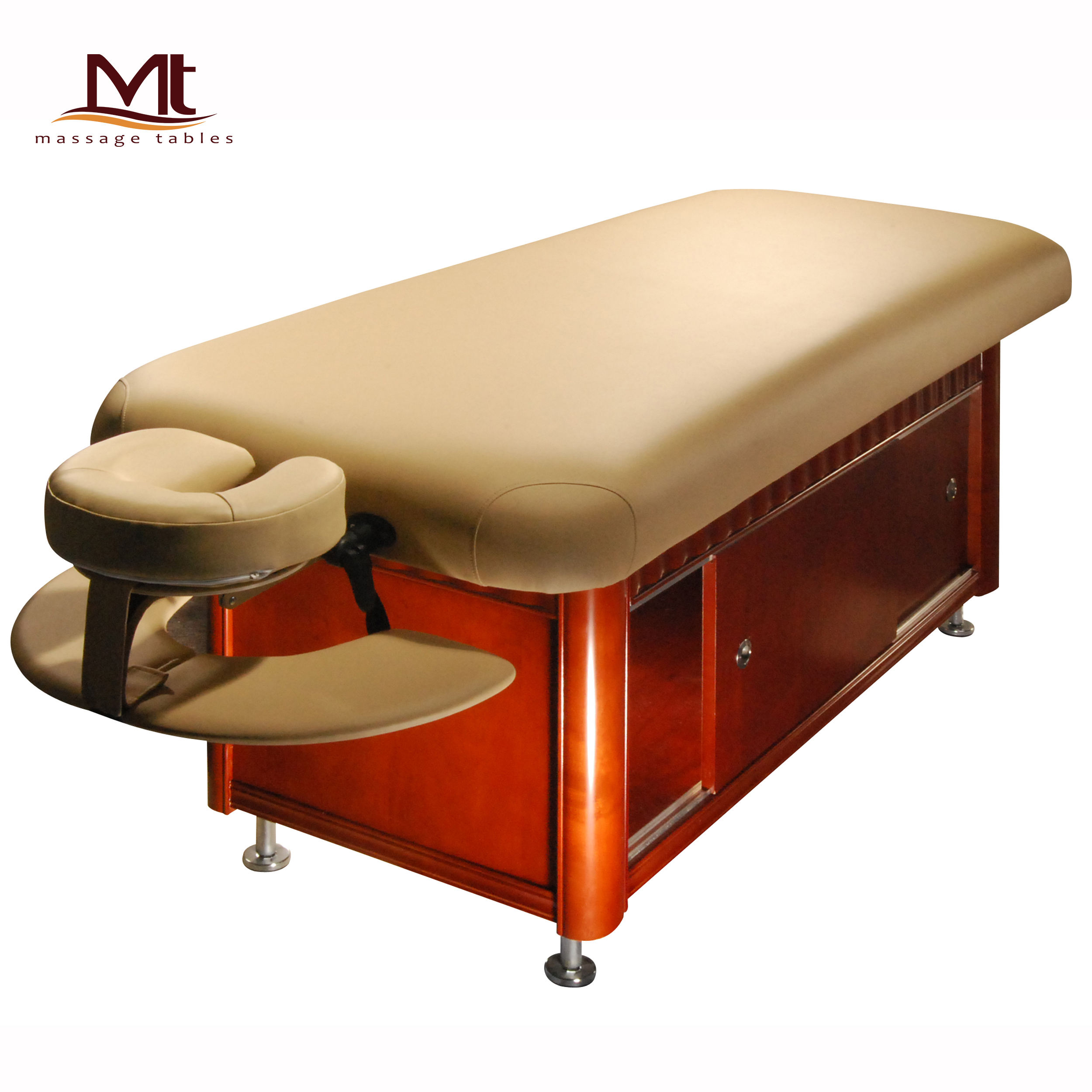 Malibu-Fla Wooden massage table stationary massage table beauty bed china folding massage table salon furniture