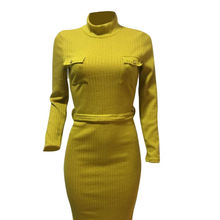 New Fashion Women Long Knitted Dress Ladies Casual Dress Women's Clothing Manufacturer  ropa de mujer