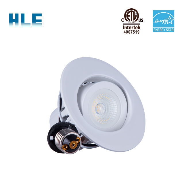 12W שקוע COB LED Gimbal Downlight צמודי