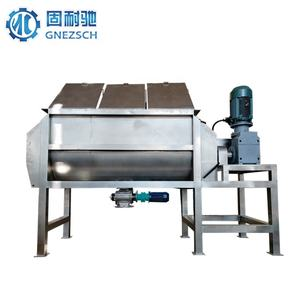 chemical powder blender industrial jacketed ribbon mixer machine
