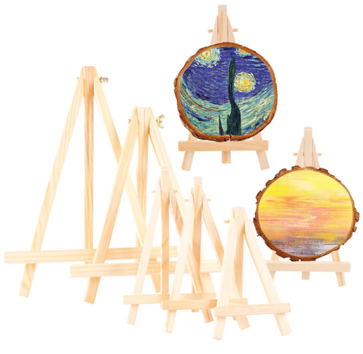 Professional artist wood art painting table stand mini easel for kids