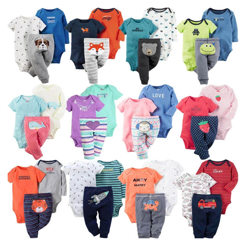 Cool Black Polar Animal Romper Baby Boys' Clothing Sets Newborn Baby Clothes