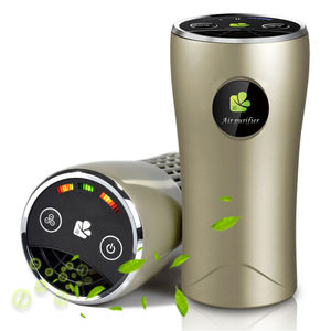 Smart Mini 12V Portable Negative Ion Eliminates Dust Formaldehyde PM2.5 with hepa filter Car Air Purifier