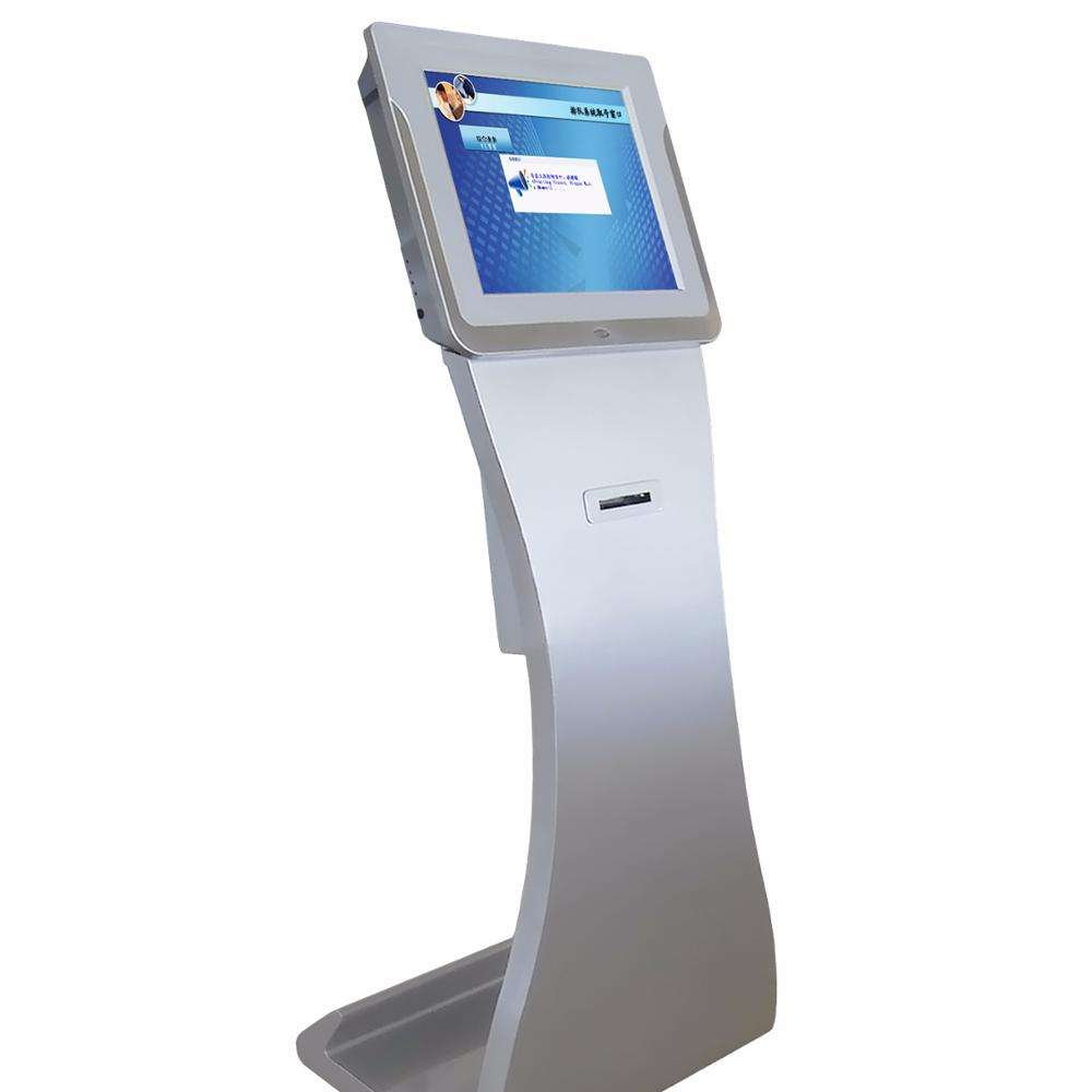 "17"" LCD AUTO electronic unicode bank waiting queue management system , ticket machine kiosk with ticket printer"