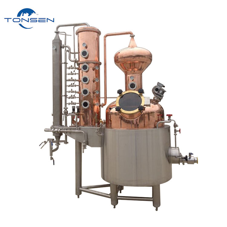 distillation column industrial distilling equipment alcohol production line with Whiskey vodka distillery equipment