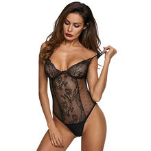 Sexy Hollow Out Lace Bodysuit Hot Lingerie Nightwear