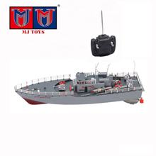 1:115 scale military remote control torpedo boat toy battleship model with small cannon