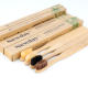 Natural Bamboo Biodegradable Adult Bamboo Toothbrush Soft Charcoal Bristles BPA Free OEM Brosse A Dent Bambou