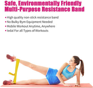 Resistance Bands Set, Latex Free Flat Exercise Stretch Bands for Stretching, Flexibility, Pilates, Yoga, Ballet, Gymnastics