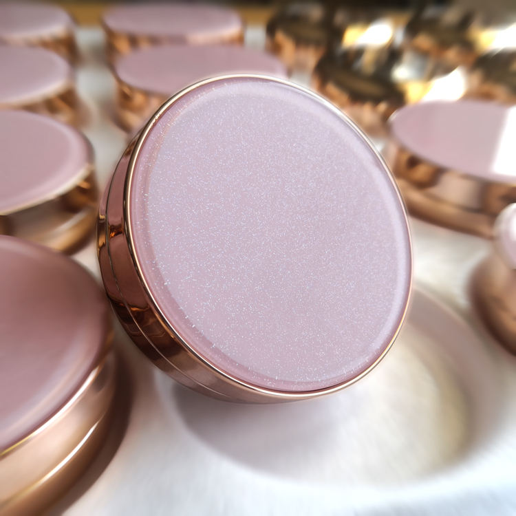 A2 in stock pink round powder case custom air cushion box for BB cream with Mirror