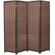 Canvas [ 4 Divider ] 4 Room Dividers Decorative Freestanding Woven Bamboo Canvas Print 4 Panels Hinged Panel Screen Portable Folding Room Divider Forest Park