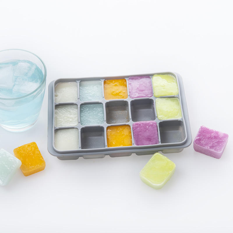 Silicon Mold Tray One-Stop Service Hot Sales FDA Food Grade 15 Grid Silicone Square Ice Cube