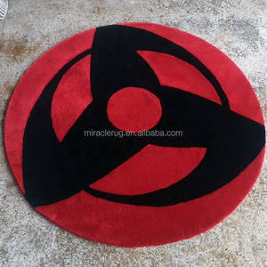 Anime Tappeti Custom Design Logo Commerciale Porta Cerchio Cut-Out a Forma di Tappeto Fatto A Mano Su Ordinazione