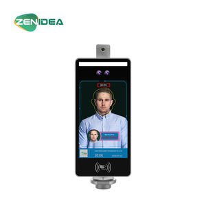 RFID intelligent access control system measuring temperature facial recognition