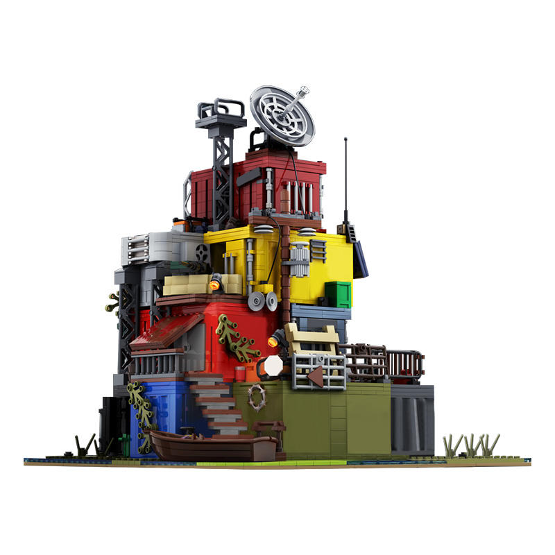 Buildmoc Post Apocalyptic Survivors Base on Docks Big Huge Toy Blocks Toy For Kids