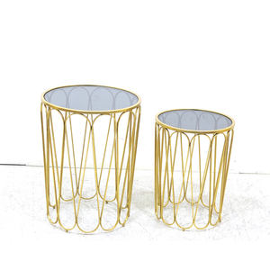 Wholesale Cheap Price Modern Luxury Style Round Tall Metal Side Table Nest