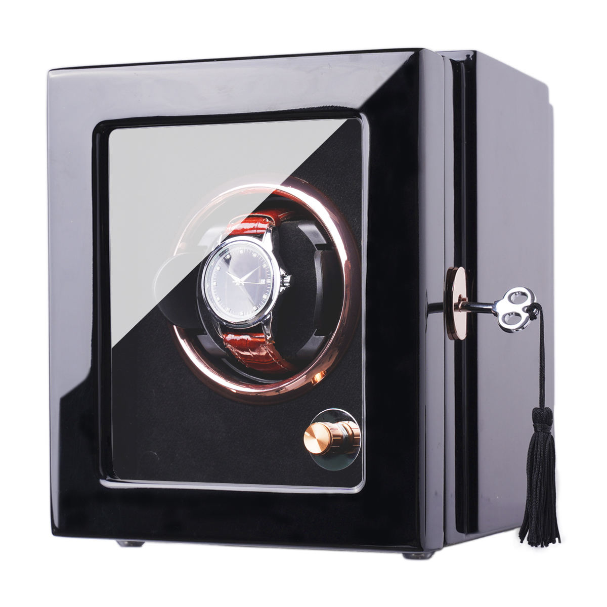 Luxury Time Partner Single Watch Winder 1 Slot Electronic Automatic Watch Winder Safe Watch Motor Shaker Box