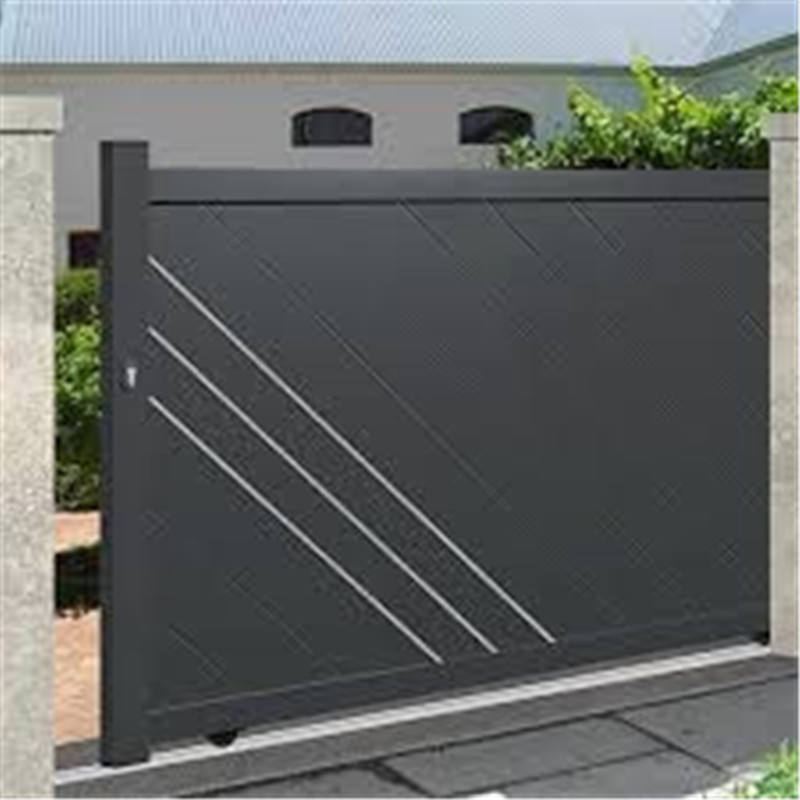 House iron gate design / steel sliding gate / Aluminum PVC vinyl fence gate designs