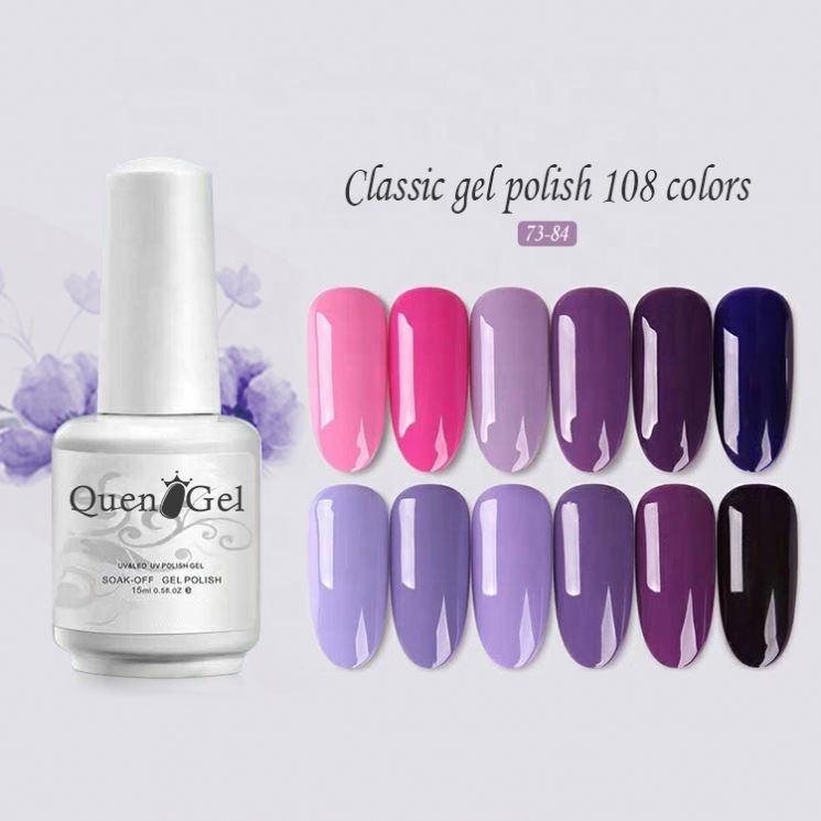Natural de <span class=keywords><strong>alta</strong></span> brillante esmalte de uñas proveedores 108 colores Color Nude de Gel UV polaco | empapa polaco