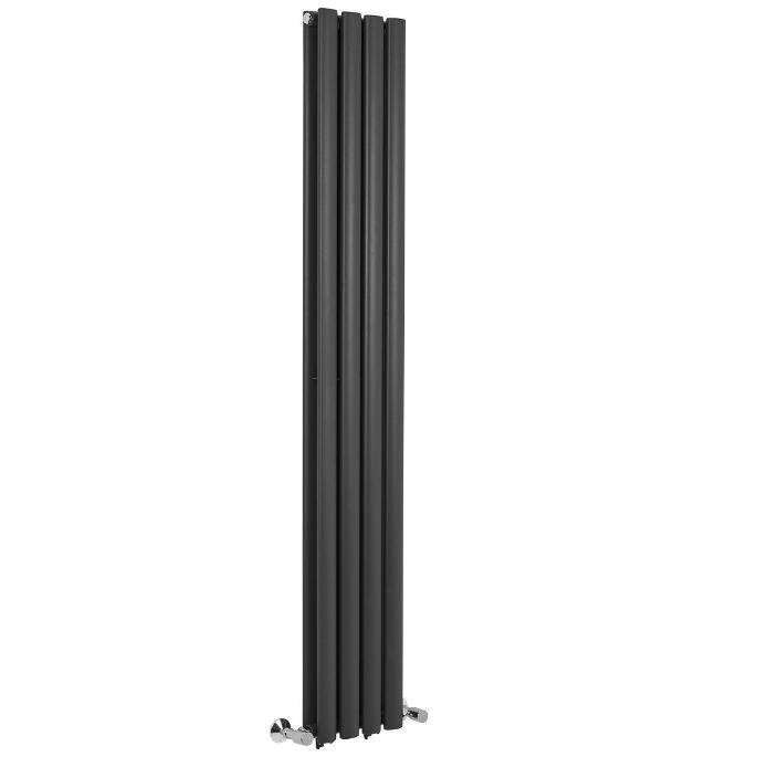 1800*236 mm Anthracite Oval Vertical Panel Central Heating Home Heated Designer Radiators