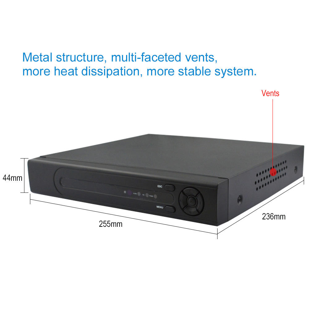 1SATA 4ch 8テラバイト8MP HD Analog 6 IN 1 DVR H.265