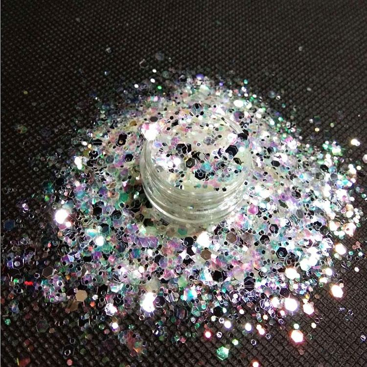 Fast delivery glitter Mixed chunky glitter 1mm 2mm 3mm ultra-thin nail art glitter flakes