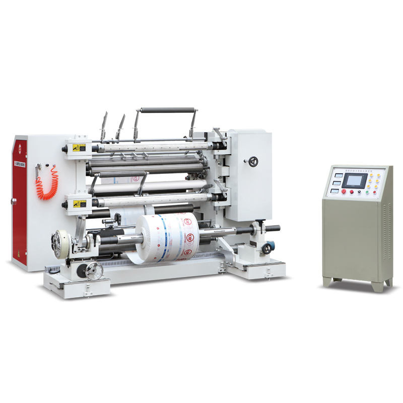 Fully automatic high speed servo motor drive paper plastic film slitting and rewinding machine