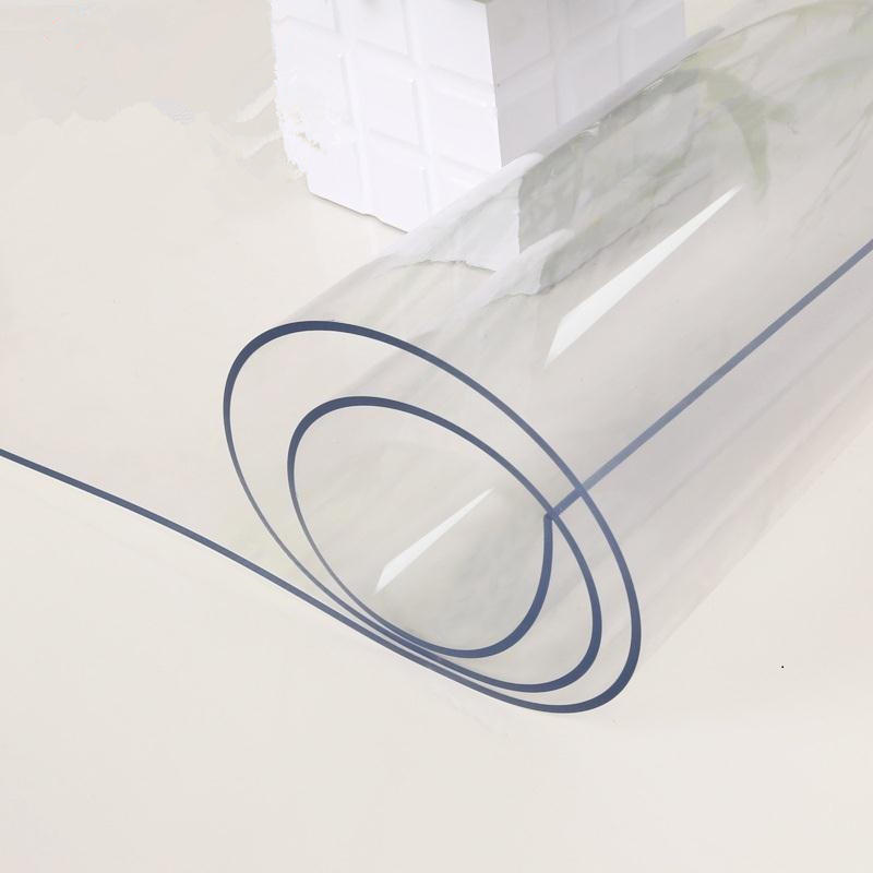 Clear Waterproof Plastic PVC Coated Tablecloths/Table Protective Cover