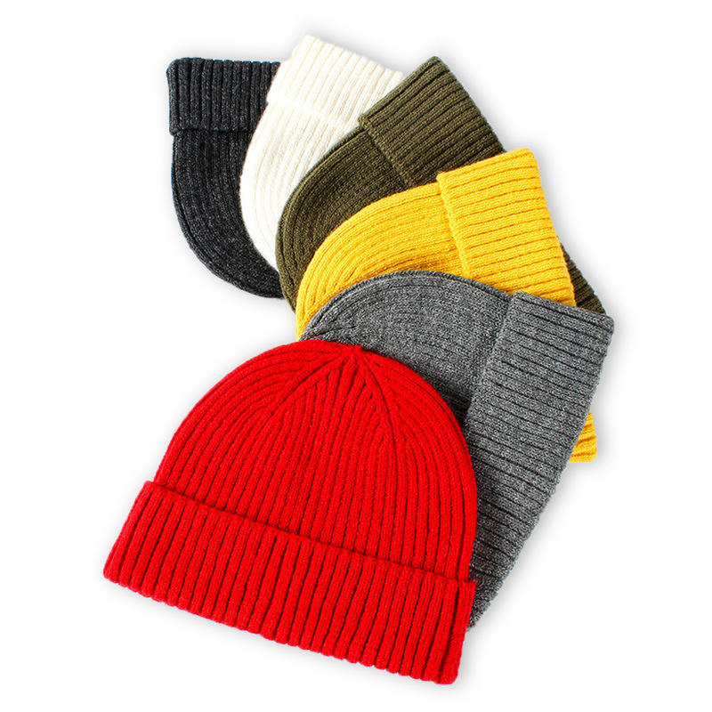 Manufacturers bulk fashion Stylish Plain Running Slouchy Cotton Winter Custom embroidered Logo knitted Beanie Hat