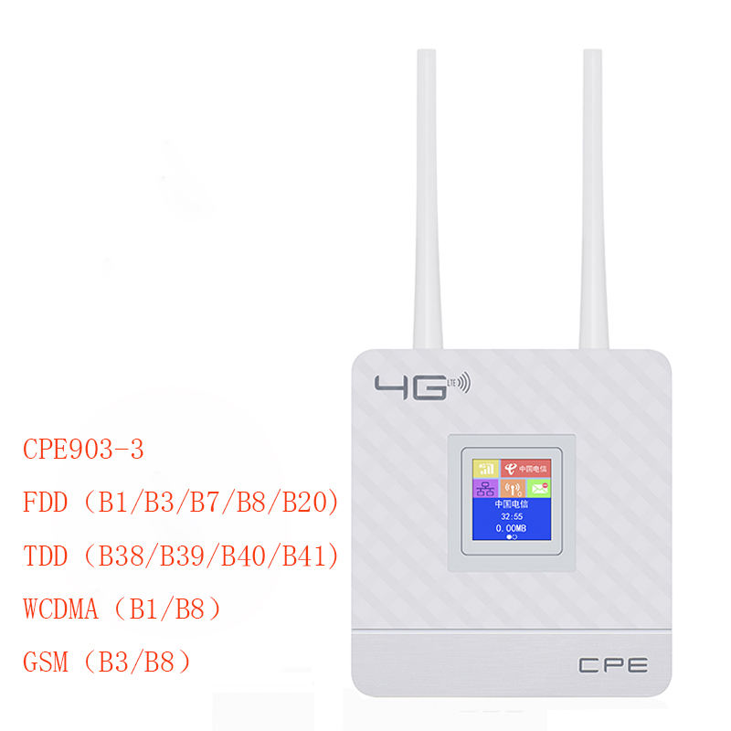 CPE Home-family Hotspot 4G Wireless Dual Antenna Wifi Mobile Router Fast Speed Wifi Connection Device