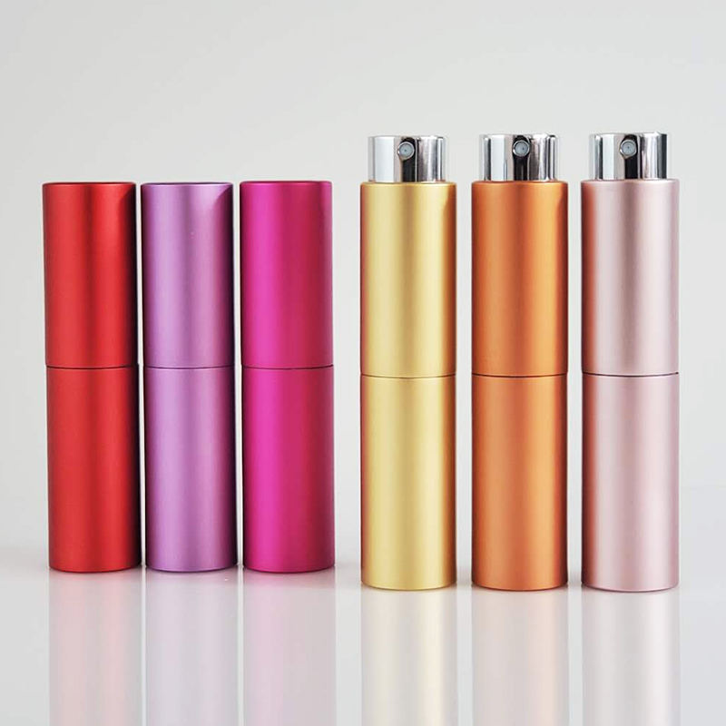 Wholesale Custom 5ml 8ml 10ml 15ml 20ml Plastic Aluminium Spray Black Empty Perfume Bottle