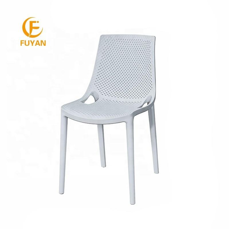 China cheapest plastic home furniture white stackable dining plastic full PP chair For Sale
