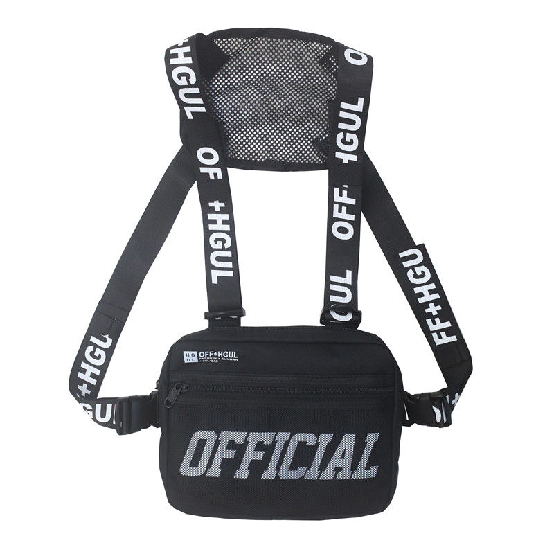 Wholesale Custom big cross body outdoor fashion sports sling unisex vest rig chest bag
