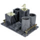 Home Marble Bathroom Accessories Set Marble Effect Accessory Bathroom Set