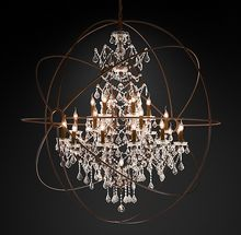 Rustic Iron Chandelier American style crystal chandelier light for hotel living room decor ETL80080