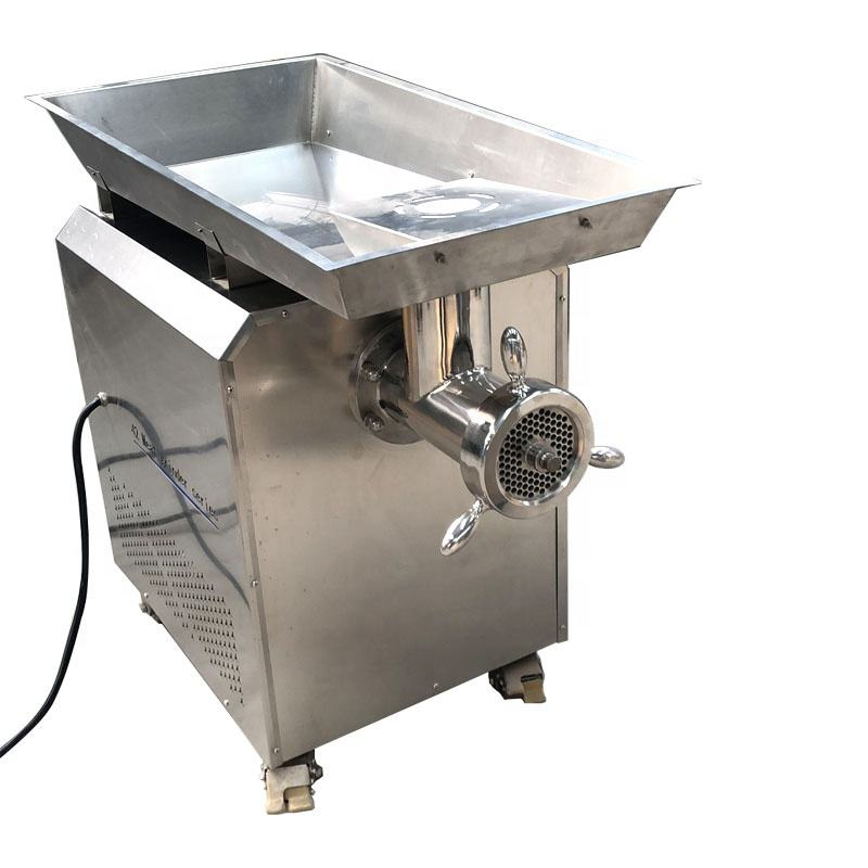 Big Capacity Commercial Meat Grinder Machinery 3KW Carbon Steel Kitchen Grinder Mincer Machine 1000KG/h Sausage Making