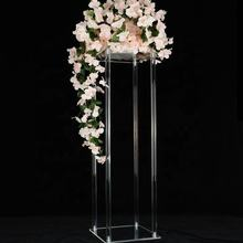 Clear acrylic wedding table centerpieces for flower stand flower base and wedding decorations