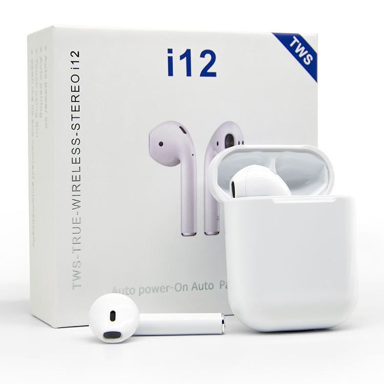 I12Tws Audifono Bluetooths 5.0 Earphone Inpods 12 Mobile Phone Wireless Microphone I12 Tws Wireless Earbuds