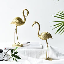 2020 New Nordic Golden Flamingo Decoration Light Luxury Decoration Creative Decor