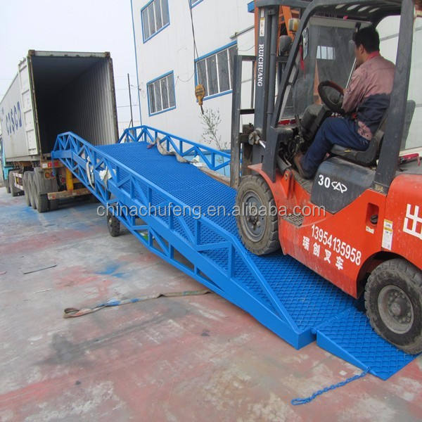 Hydraulic Pumps Truck Warehouse Forklift Yard Ramps mobile Container Loading Ramps