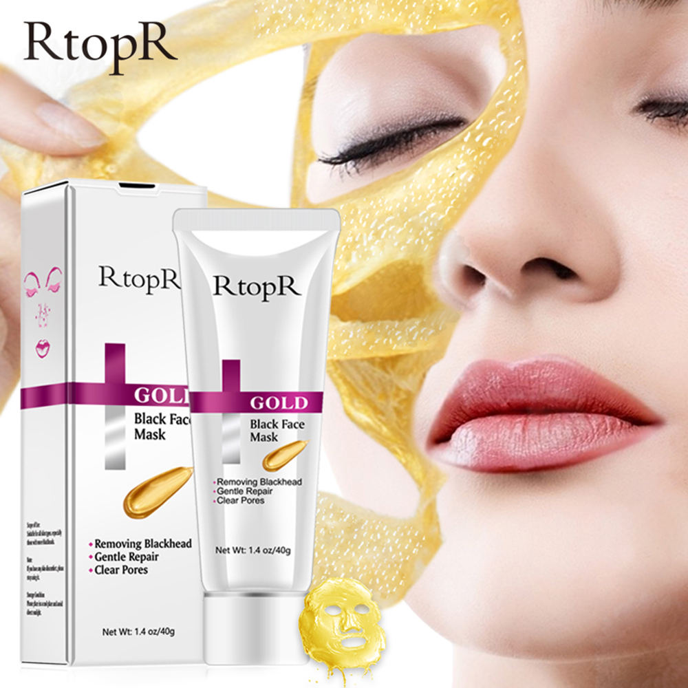RtopR Gold Remove Blackhead Mask Shrink Pore Improve Rough Skin Acne Blackhead Remover Mask Facial Moisturizing Cream face mask